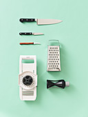 Utensils and cutting tools for vegetarian cuisine
