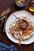 Eggplant dip with keto crackers