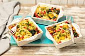 Pasta-Gemüse-Auflauf mit Ei