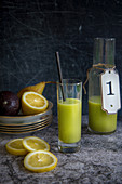 Pear juice with avocado and lemon