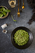 Green risotto with spinach