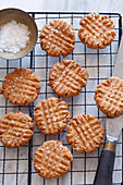 Salted peanutbutter cokies, keto lowcarb dairyfree glutenfree