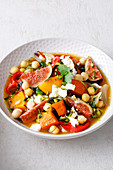 Oriental chickpea stew with figs