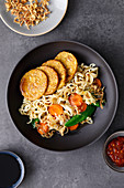 Bami goreng with tempeh (Indonesia)