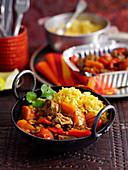 Lamb Dhansak with rice (India)