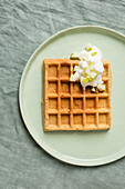 Quark waffles with apple quark