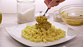 Spiral pasta with Pesto Rosso