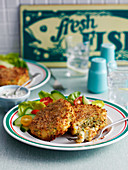 Cod cakes with salad