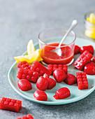 Saure Erdbeer-Geleebonbons, selbst gemacht