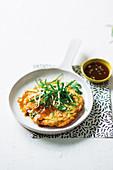 Foo Yung mit Ei und Huhn (chinesisches Omelett)