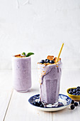 Blueberry cheesecake milkshake