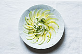 Kohlrabi and apple salad with chervil