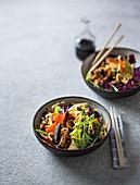 Japanese yakisoba stir-fry