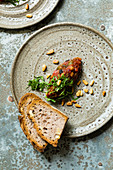 Aubergine caponata with pine nuts