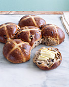 Six hot cross buns for Easter