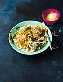 Tagliatelle with caramelised onions, pecorino and sage