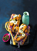 Fish finger baguettes with fennel slaw