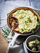 Cottage pie with ostrich mince and lentils