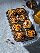 Spiced date and orange mini pies