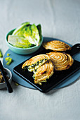 Cheesy onion and spinach jaffles