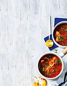 Chraime - Sephardic fish ragout in tomato sauce