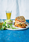 Quesadillas with smoky pumpkin