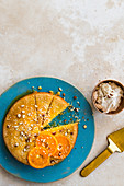 Turkish semolina-and-tahini cake with clementine syrup
