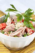 Quinoa salad with tuna and tomatoes