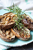 Grilled aubergine with rosemary