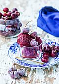 Sweet cherry sorbet