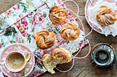 Sugar buns - baked like mini babka cakes in muffin tins