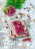 Raspberry toffees