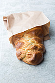 A quick quark bread plait