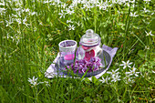 Handmade lilac tealights