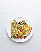 Hearty crepes with different fillings
