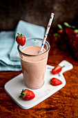 Erdbeersmoothie mit Ingwer