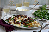 Oven-baked celeriac with Parmesan cream and mushrooms