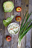 Coleslaw with apple