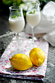 Lemon sorbet with grappa (dessert made by Stefano Catenacci, Sweden)
