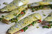 Italian-style Baltic herring with parsley, chilli, garlic and lemon