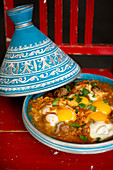 Kefta Mkaouara (tagine with minced meat, tomatoes and egg, Morocco)