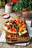 Ricotta tart with tomatoes two ways