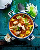 Mediterranean fish soup with fennel