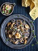 Buchweizen-Tagliatelle mit Pilzsauce