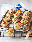 Savoury mini muffins with Gruyere sage and onion flavouring