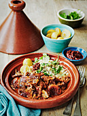 Slow cooked lamb tajine with preserved lemons
