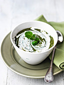 Watercress soup with Greek yoghurt