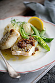 Cod with ginger and soya butter
