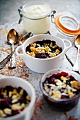 Berry crumble with blackberries