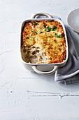 Lasagne Blanc mit Hühnchen, Pilzen und Mozzarella